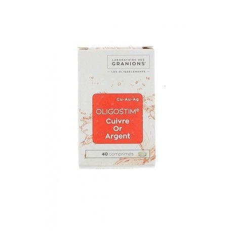 OLIGOSTIM CUIVRE-OR-ARGENT Boite de 40 comprimés