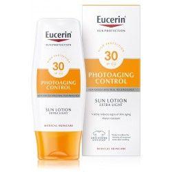 EUCERIN SUN 30 +PHOTOAGING CONTROL Lotion extra légère anti-âge Tube de 150 ml