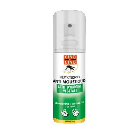 CINQ SUR CINQ Spray citriodora anti moustiques actif d'origine vegetal spray de 100 ml