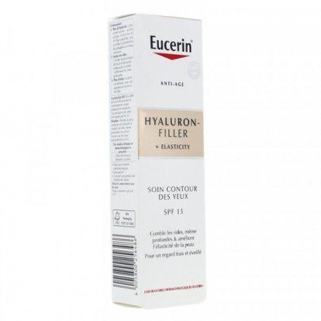 EUCERIN Hyaluron Filler + elasticity Soin contour des yeux SPF 15 Tube de 15 ml
