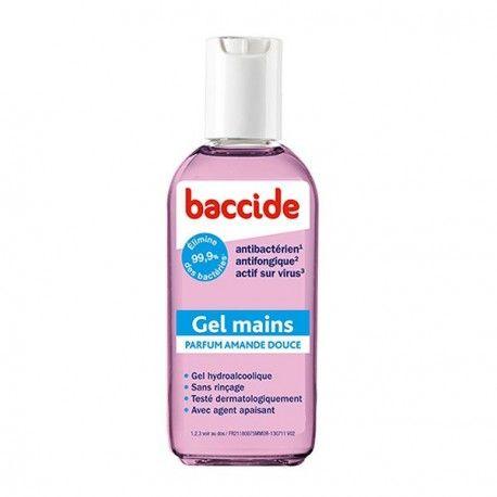 BACCIDE Gel hydroalcoolique pour les mains parfum amande douce flacon de 75 ml