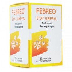FEBREO Etat grippal Boite de 25 comprimés sublinguales