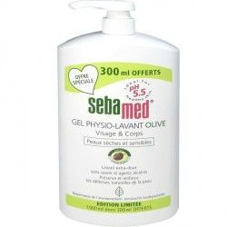 SEBAMED GEL PHYSIO LAVANT OLIVE 1L DONT 300 ML OFFERTS