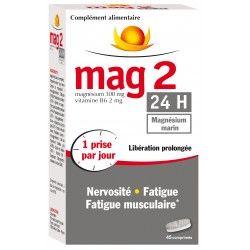MAG 2 24 Heures complément alimentaire à base de magnésium marin Boite de 45 comprimés