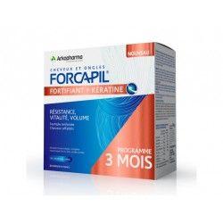 ARKOPHARMA FORCAPIL KERATINE + Complément alimentaire cheveux et ongles Boite de 180 gélules